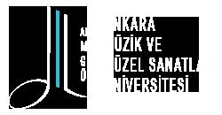 mgu.edu.tr logo betimleme: logonun sol tarafında beyaz renkte ikilik nota, notanın sağ yanında ikilik nota sapı boyunca uzanan turkuaz renkte şerit, onun yanında aynı uzunlukta beyaz renkte alt ucu sağ doğru yay çizen başka bir şerit yer alır. Logonun sağ tarafında dört satır şeklinde büyük harflerle Ankara Müzik ve Güzel Sanatlar Üniversitesi yazılıdır.
